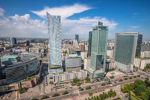 Moderne Gebouwen In Warschau Stockfoto en meer beelden van Architectuur