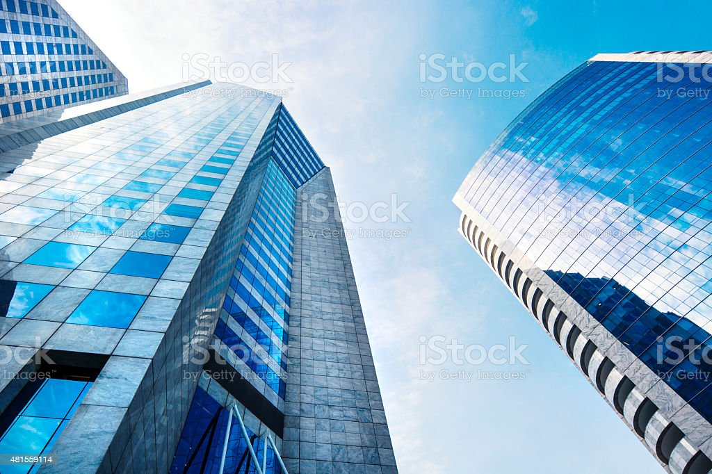 Modern buildings stock photo