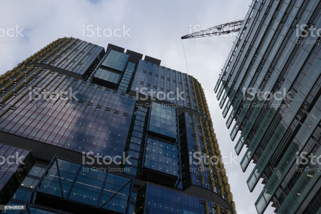 Modern buildings shot from a bottom up perspective royalty-free stock photo