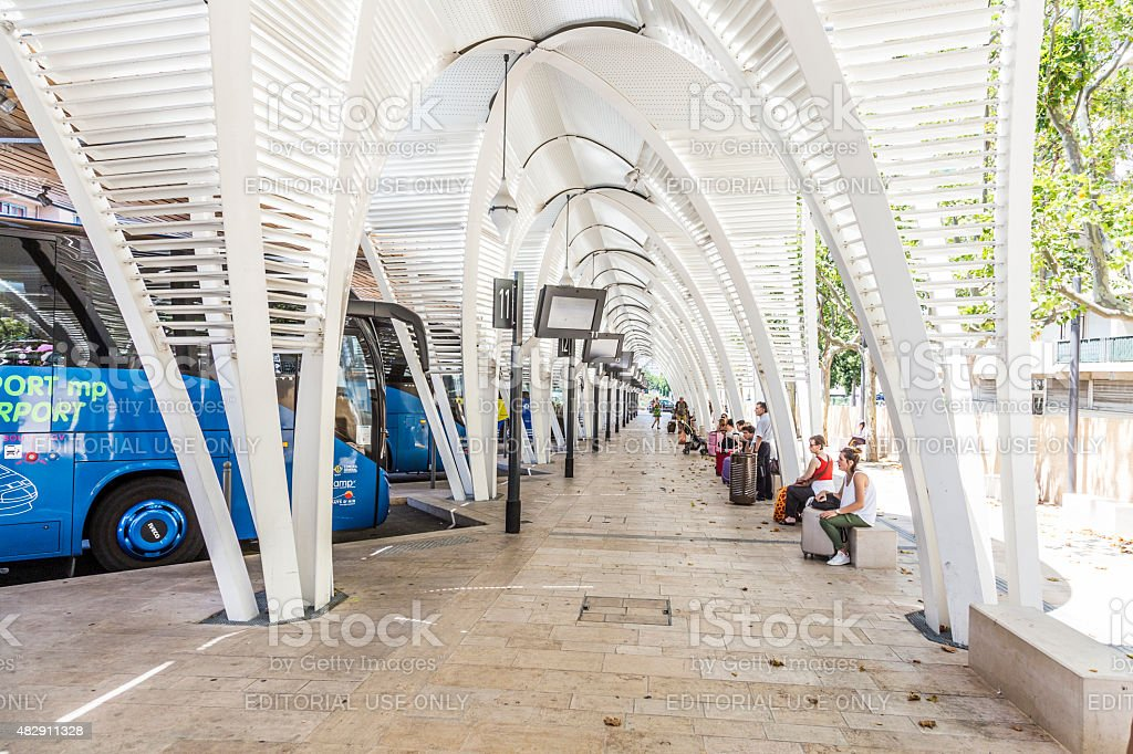 modern Bus station Gare Routiere in Aix en Provence stock photo