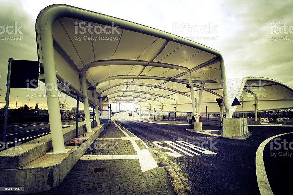 Modern bus station, Mainz Kastel, Germany royalty-free stock photo