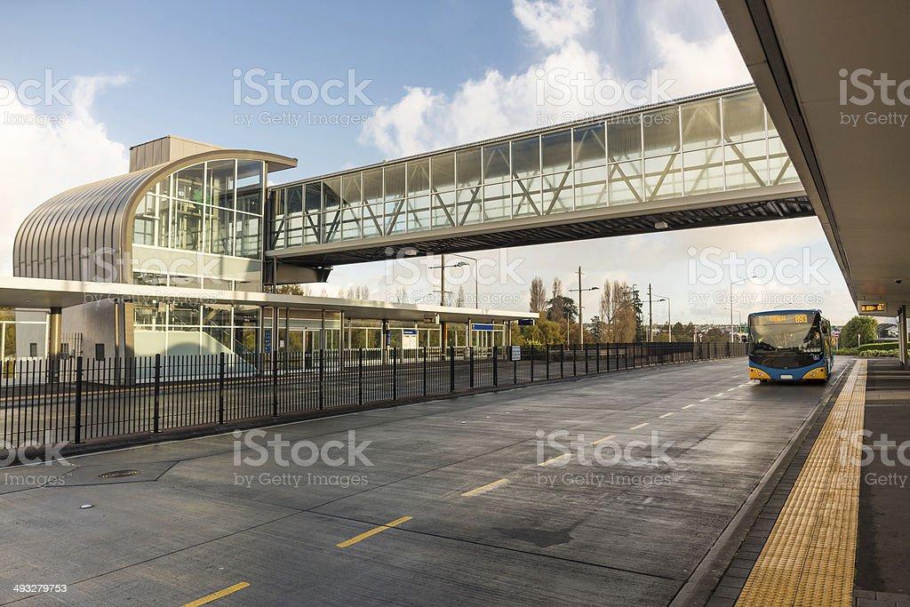 Modern bus station royalty-free stock photo