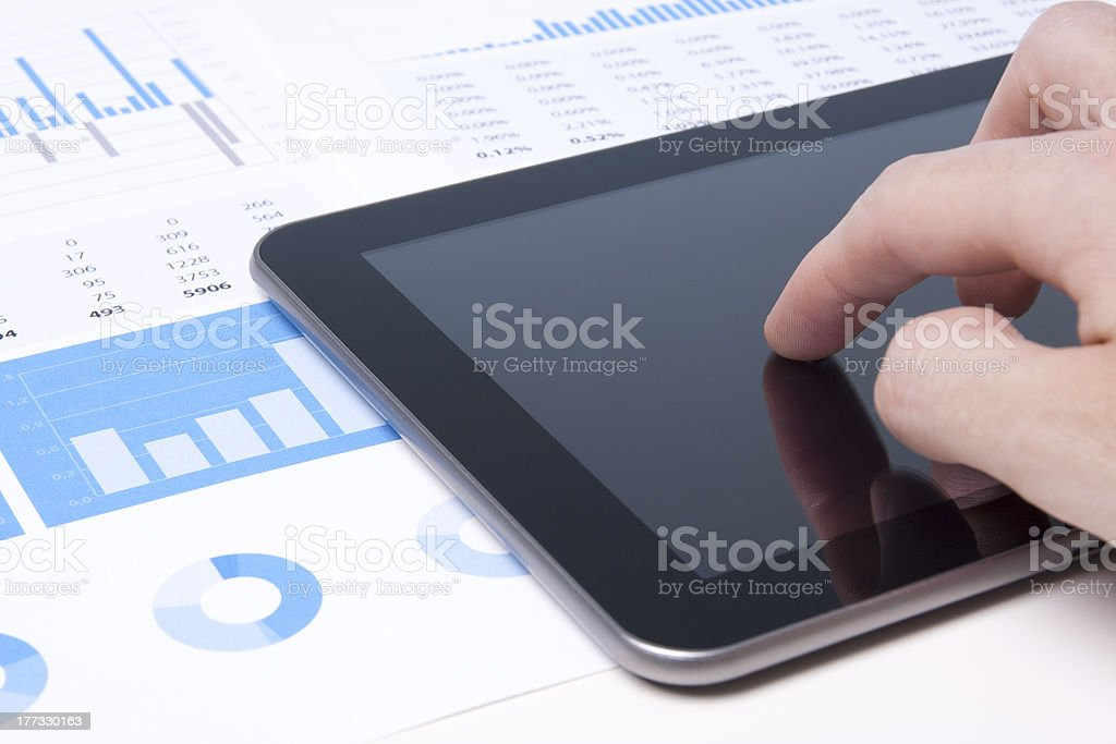 Modern business analyst with tablet PC royalty-free stock photo