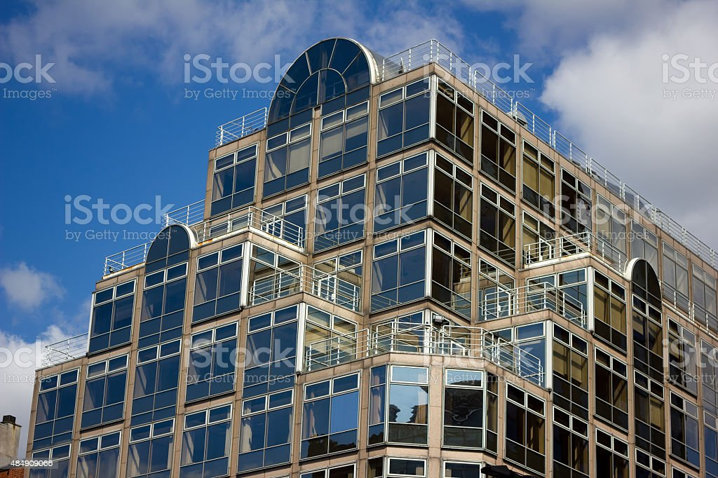 A Modern building used for retail and office space in central...