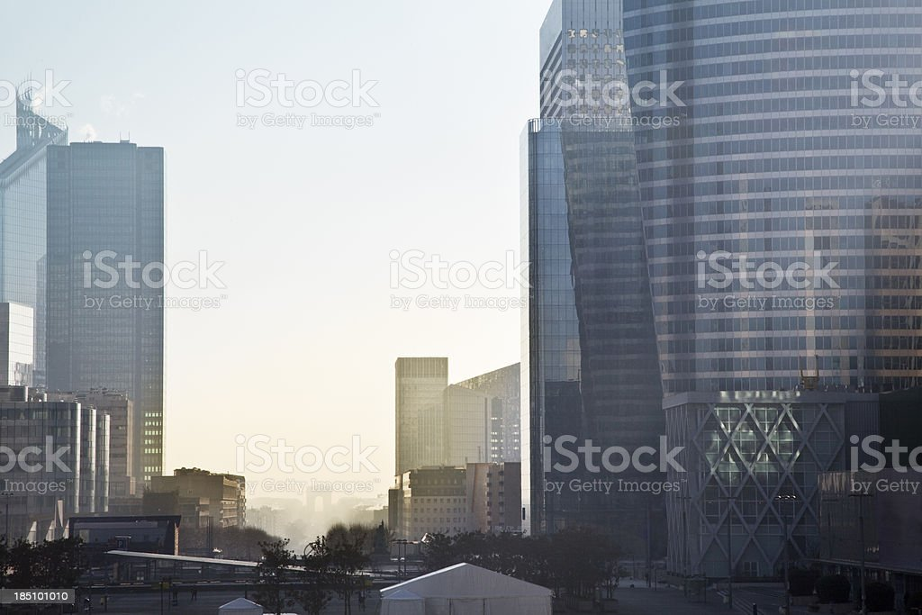modern business building la defense Paris france stock photo