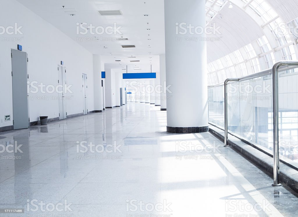 modern business center hallway stock photo