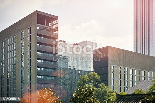 638467106istockphoto modern business center in China 623065518