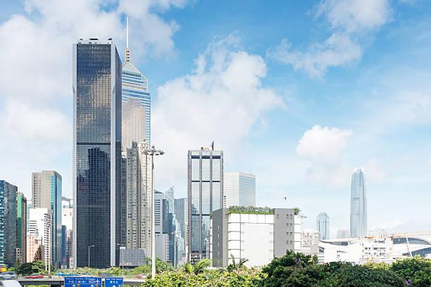 Modernes business center in hongkong – Foto