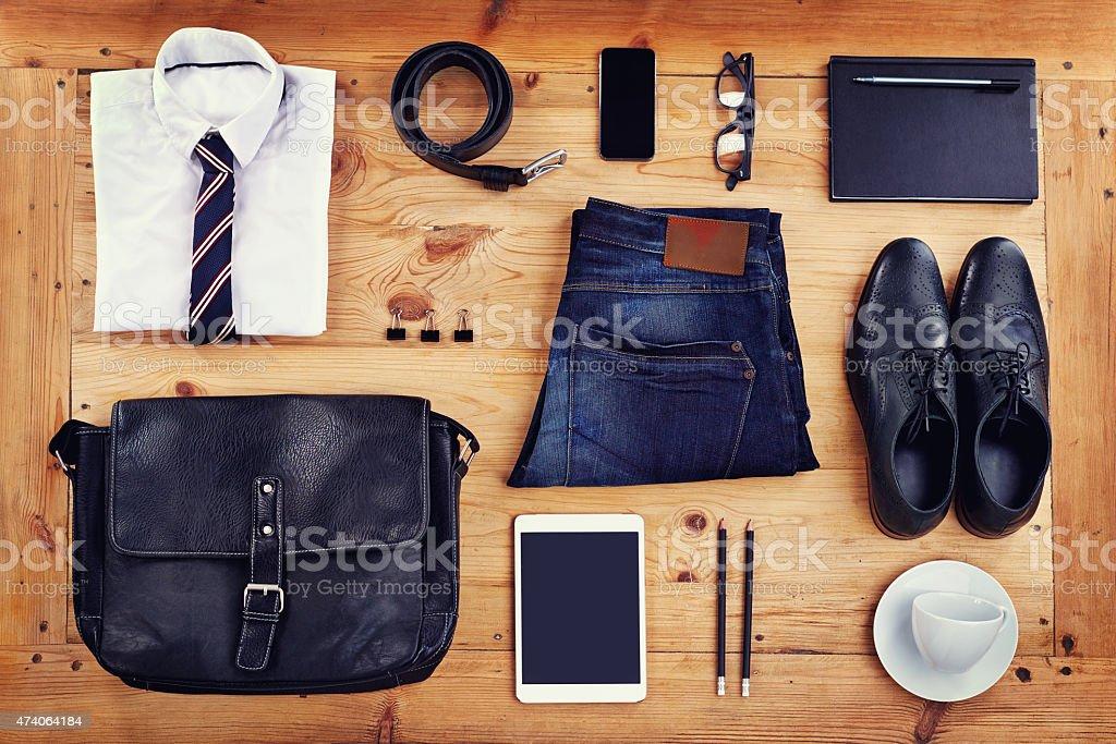 Modern business essentials stock photo