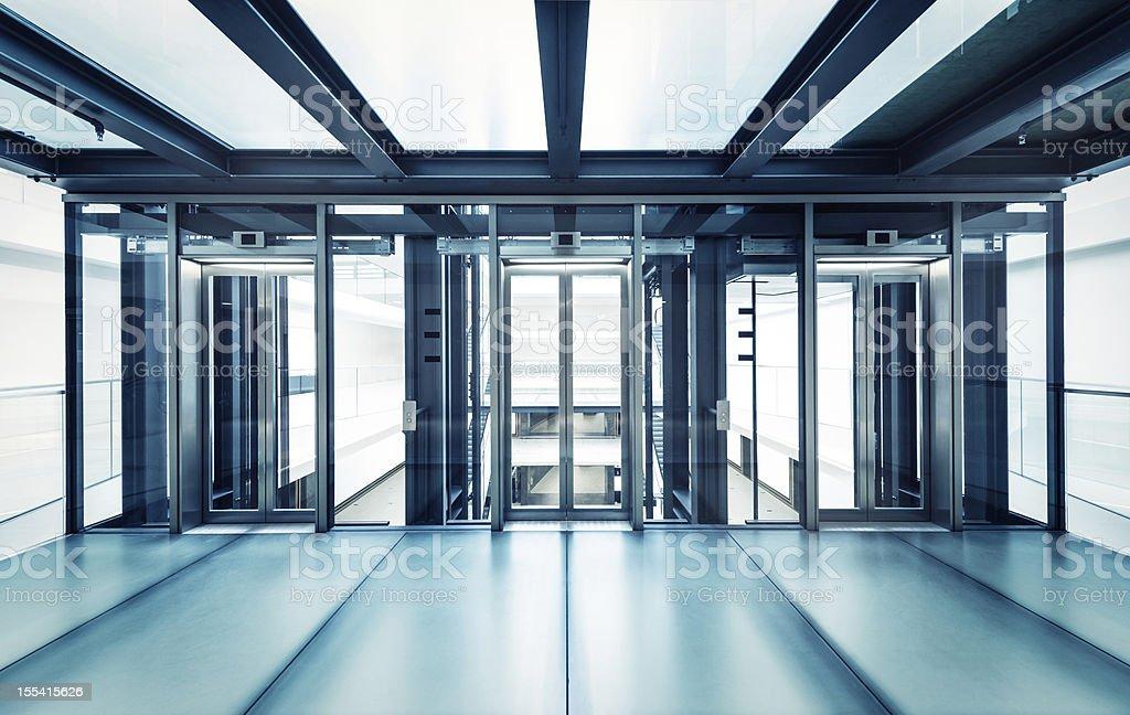 Modernes business hall Aufzüge – Foto