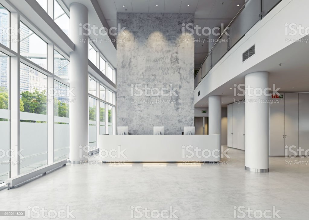 modern business hall stock photo