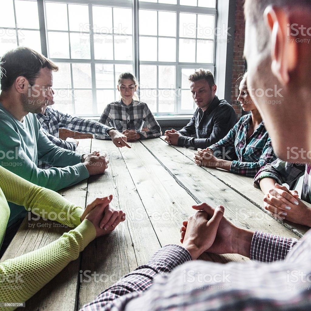 Modern business meeting royalty-free stock photo