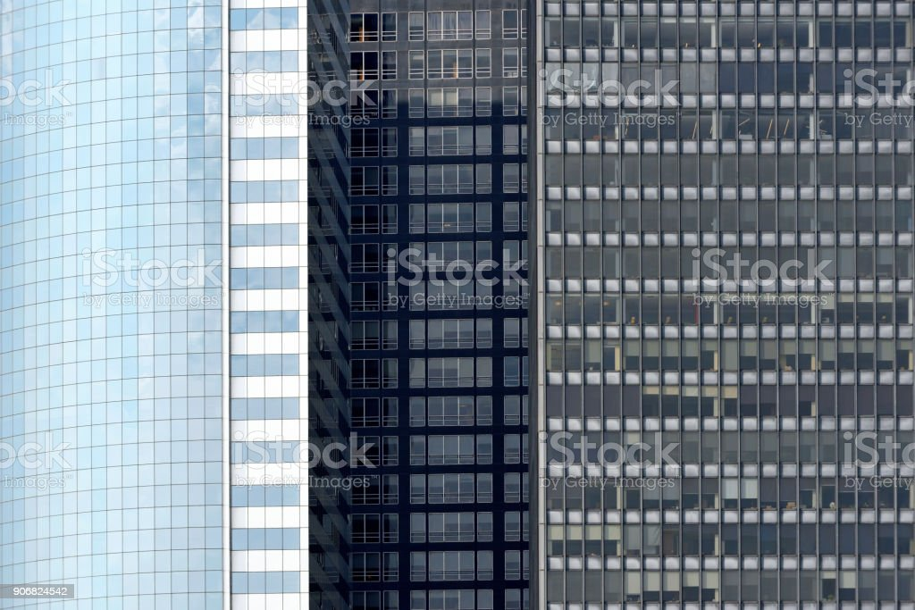 Modern Business Office Buildings in Manhattan stock photo