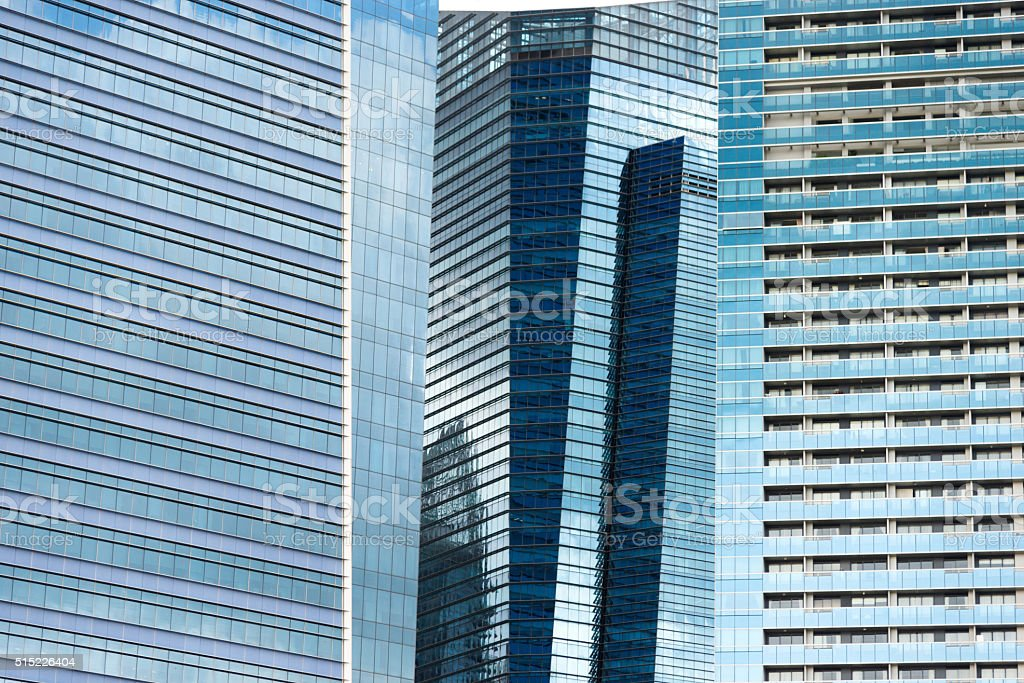 Modern business skyscrapers stock photo