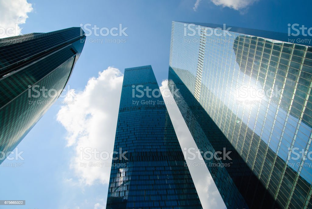 Modern business skyscrapers royalty-free stock photo