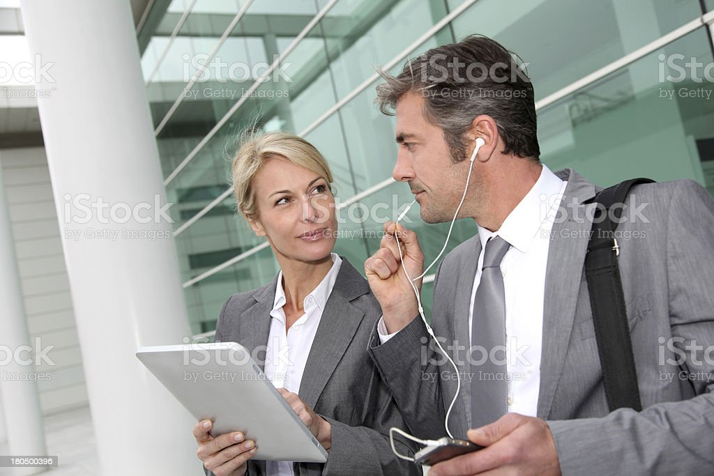 Modern business team waiting for clients royalty-free stock photo