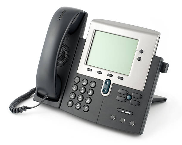 Modern Business Telephone with Clipping Path stock photo