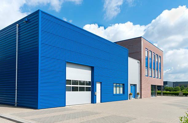 modern business unit - 工業建築物 個照片及圖片檔