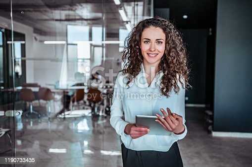 istock Modern business woman 1190733435