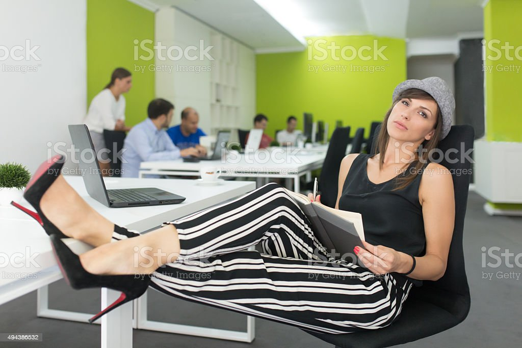 Modern Business Woman - Young, Trendy And Totally Creative! stock photo