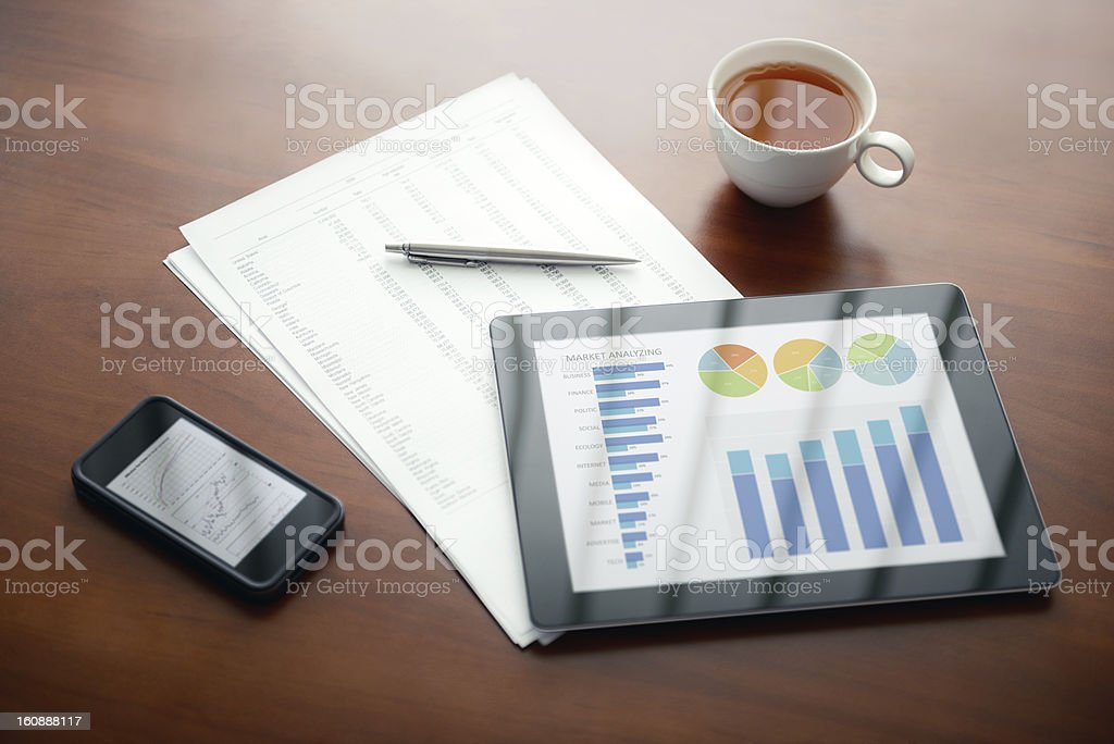 Modern business workplace royalty-free stock photo