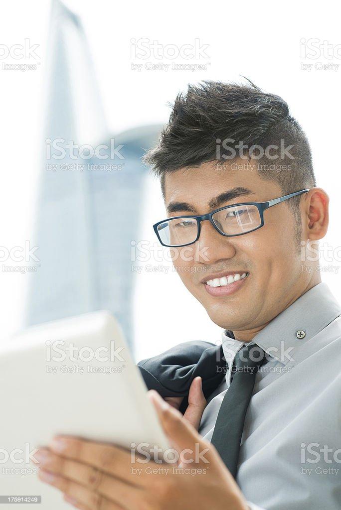 Modern businessman royalty-free stock photo