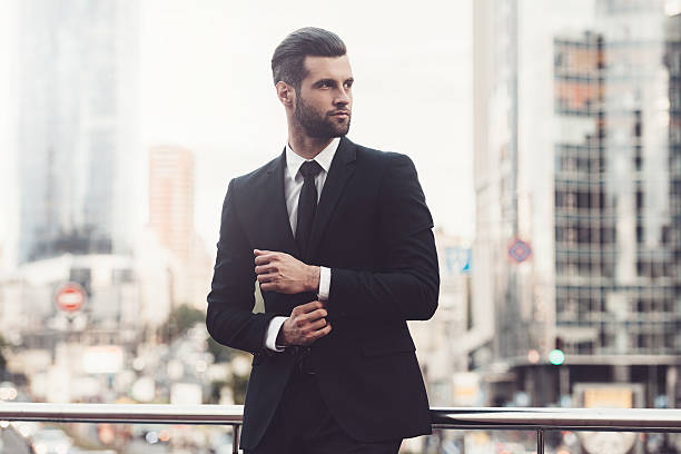 modern businessman. - handsome people stock photos and pictures