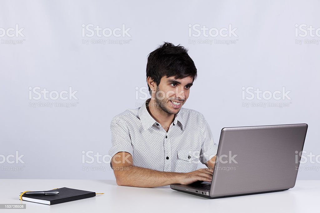Modern businessman working at his office royalty-free stock photo