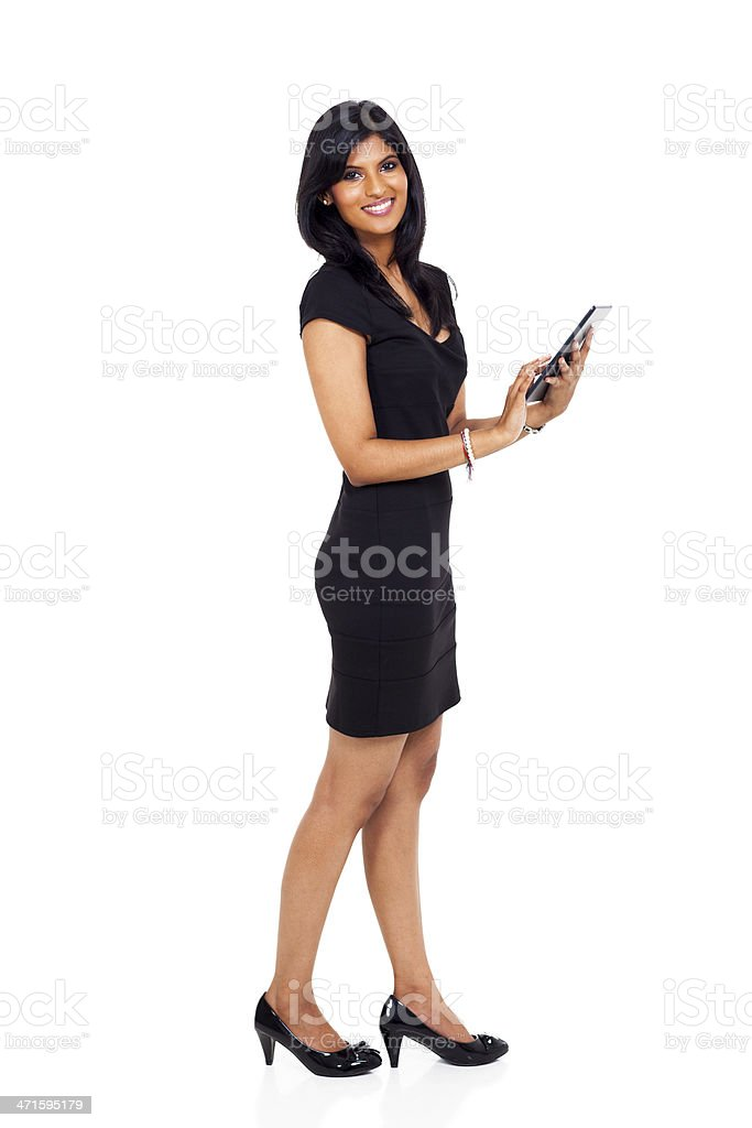 modern businesswoman using tablet computer royalty-free stock photo