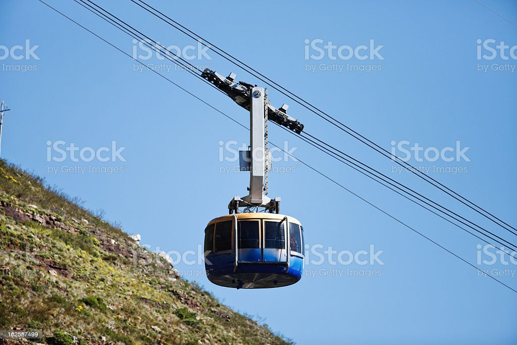Modern cable car on Table Mountain, South Africa. royalty-free stock photo