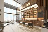 istock Modern Café Interior Design 1323648740