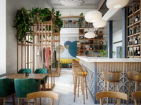 Modern Café Interior