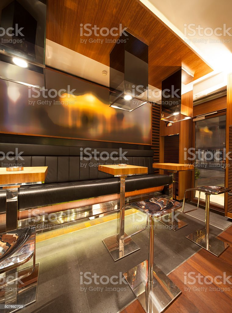 Modern Cafe Bar Interior Stock Photo - Download Image Now