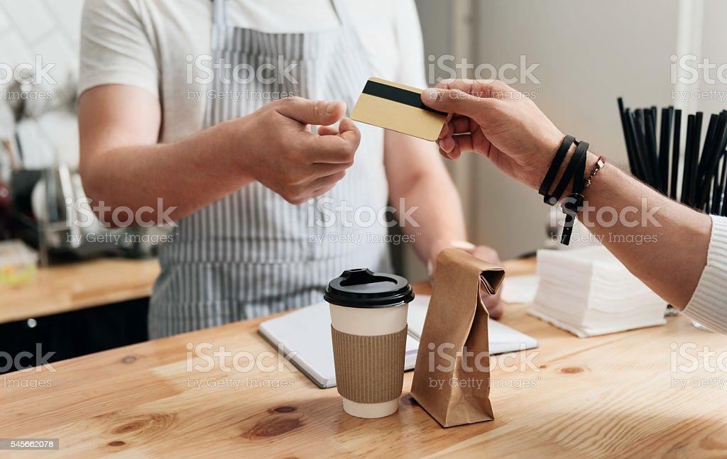 Modern cafe business stock photo