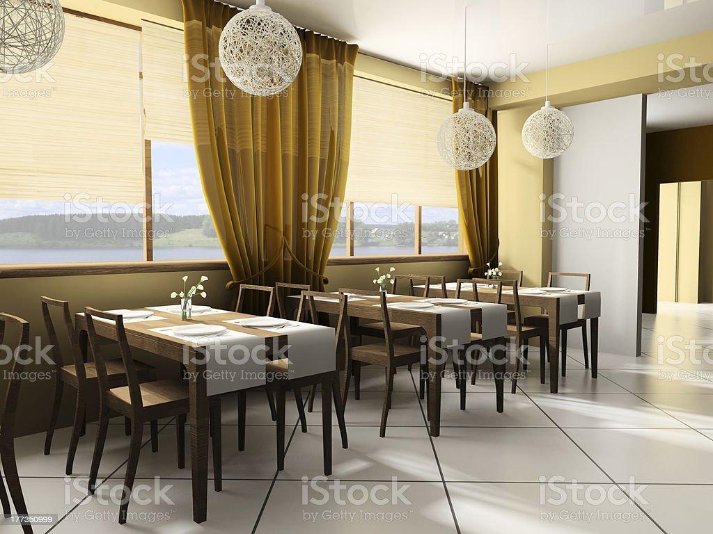 Moderne Café Stockfoto und mehr Bilder von Beige - iStock