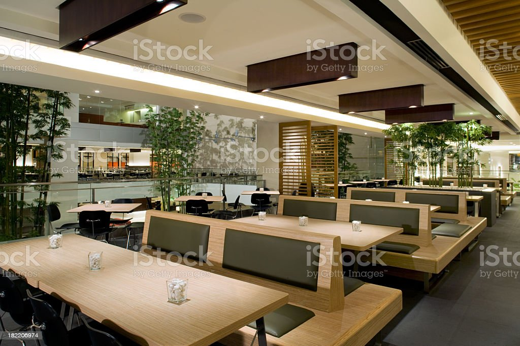 Modern Cafeteria stock photo