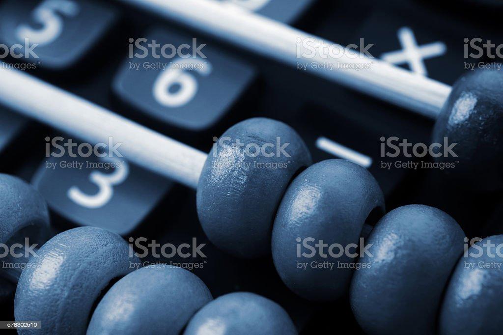 Modern calculator and abacus