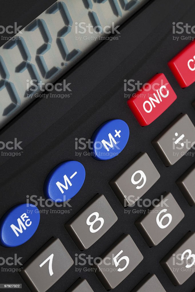 modern calculator royalty-free stock photo