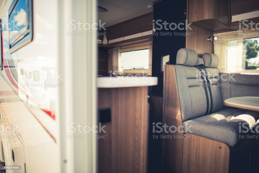 Modern Camper Van Interior Royalty Free Stock Photo
