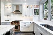 Modern kitchen installed in Westmount, Montreal, Canada