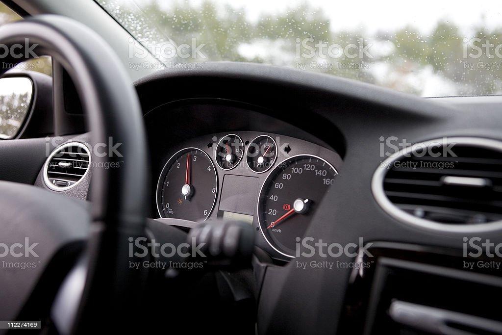 Modern car dashboard royalty-free stock photo