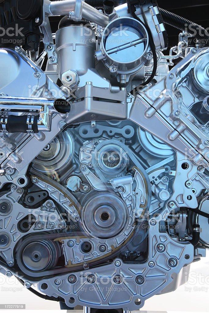 Modern Car Engine royalty-free stock photo