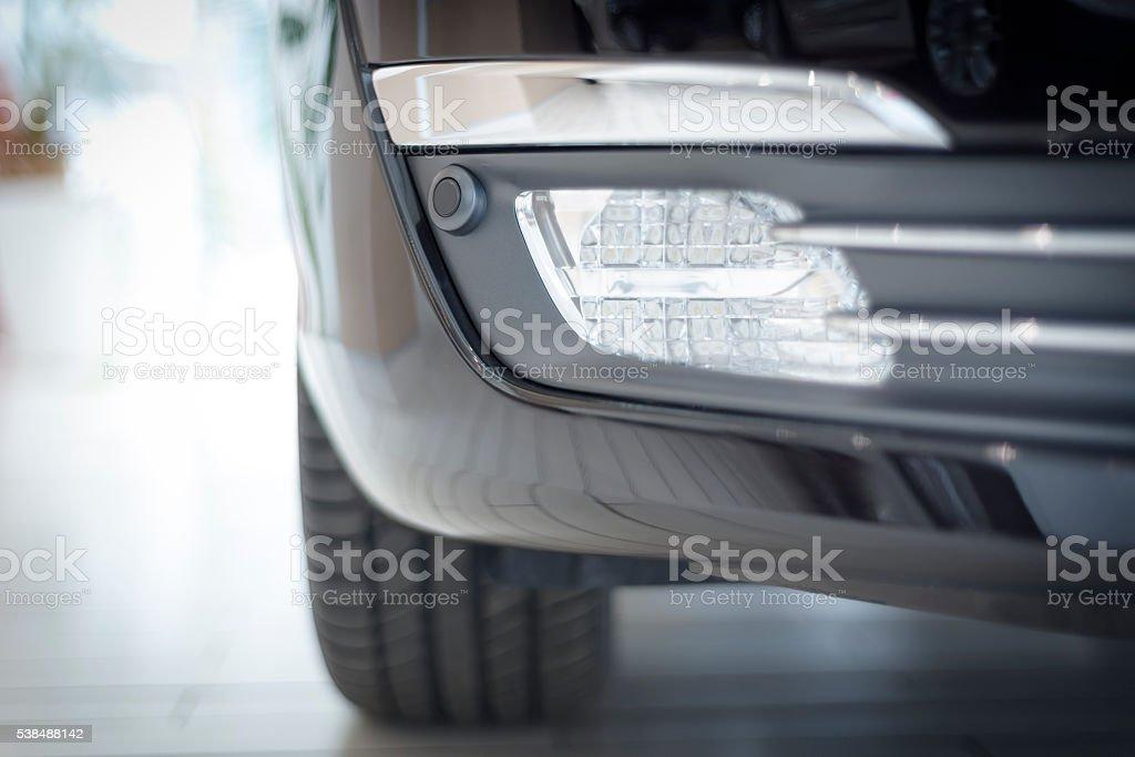 modern car fog light stock photo