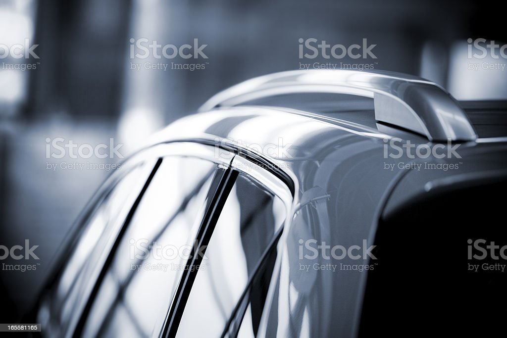 Modern car in sales salon royalty-free stock photo
