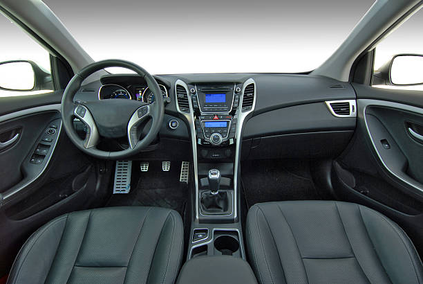 modern car interior - car interior stock photos and pictures