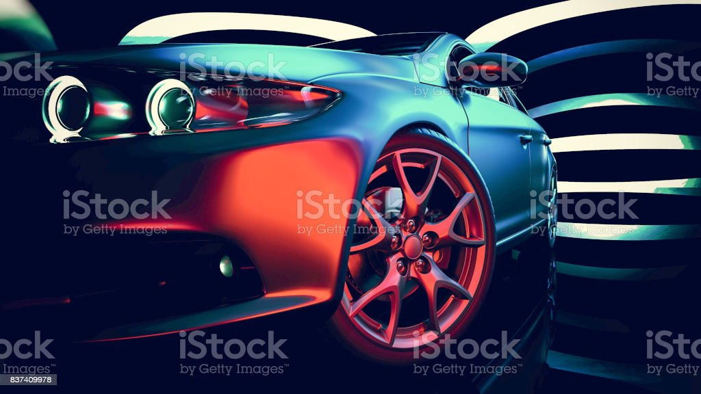 Modern car. royalty-free stock photo