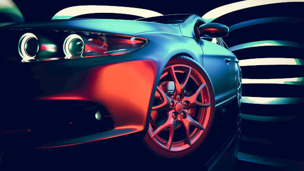 Modern car. Modern cars are in the showroom. car stock pictures, royalty-free photos & images