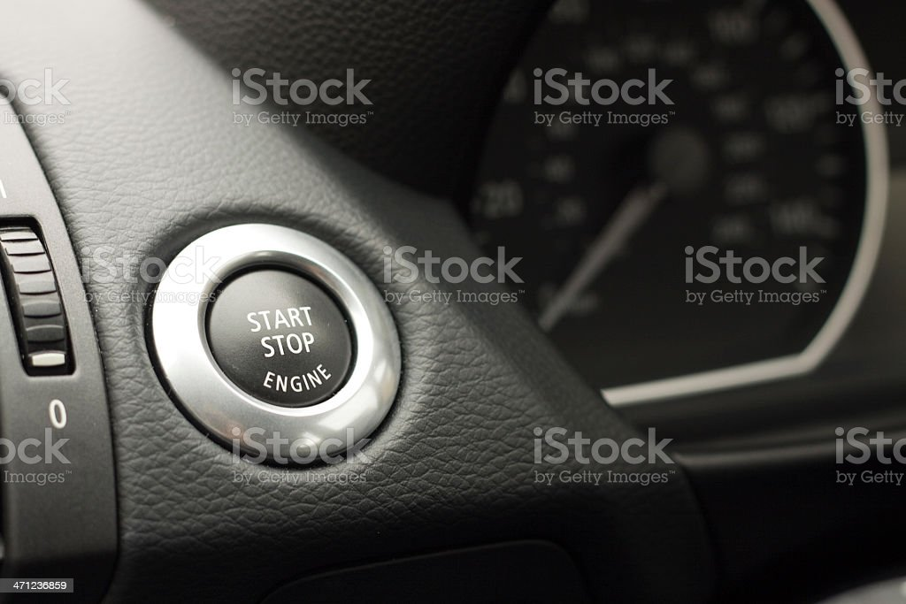 Modern Car Pushbutton Ignition. royalty-free stock photo