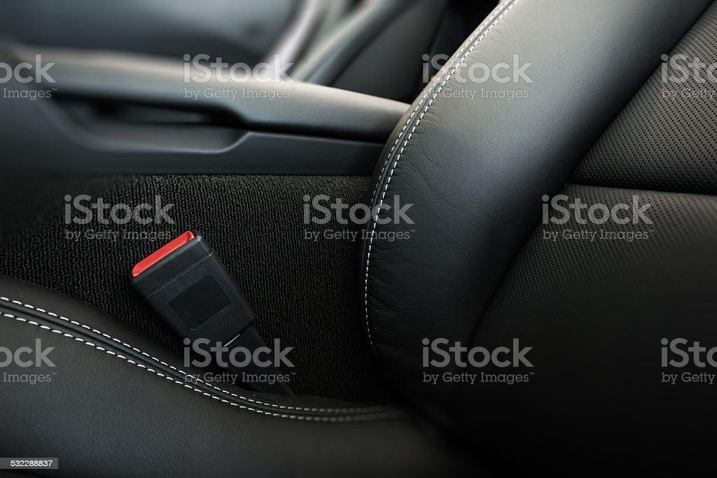 Modern Car Seat Closeup stock photo