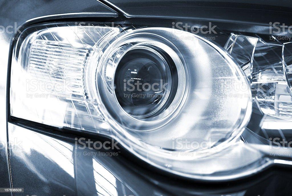 Modern car xenon headlight stock photo